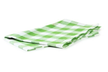 tovagliolo: Tovagliolo verde isolato su bianco Archivio Fotografico