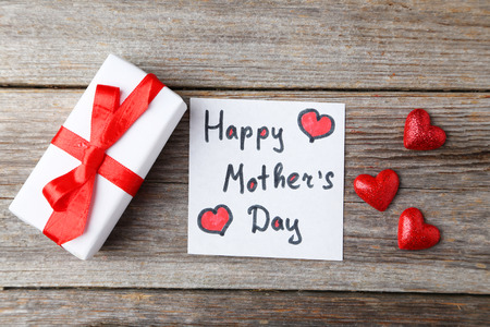 Happy mothers day card made by a child Standard-Bild