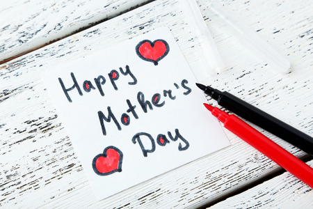 Happy mothers day card made by a child photo