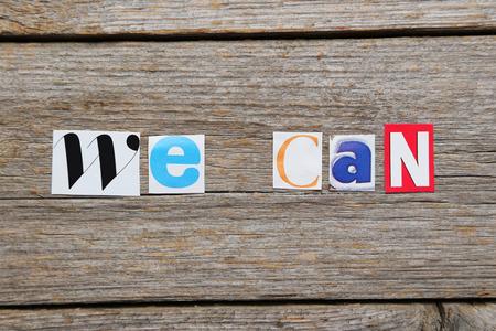 ritagliare: La parola possiamo in ritagliato lettere rivista