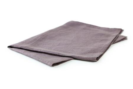 �napkin: Servilleta aislado en blanco Foto de archivo