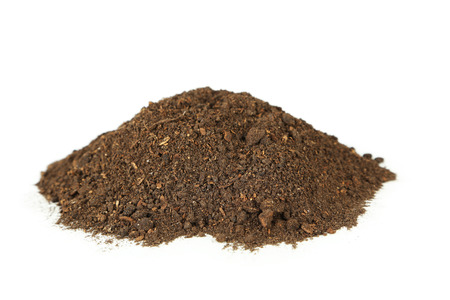 soil: Pile of soil isolated on white