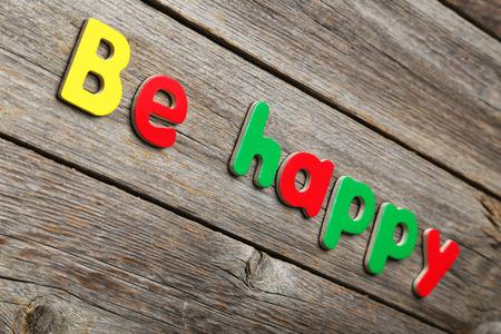 Be happy Standard-Bild