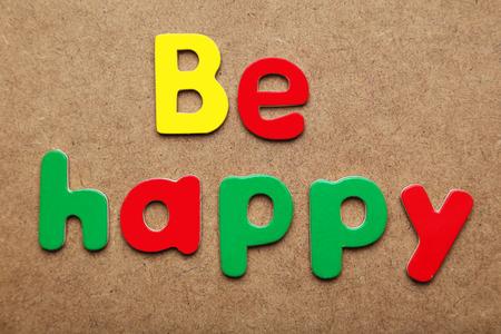 be: Be happy Stock Photo
