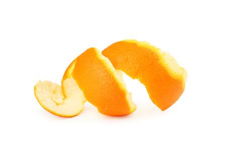 orange peel skin: Orange peel isolated on white