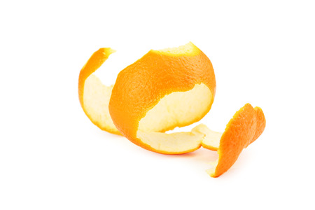 Orange peel isolated on white
