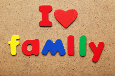I love family words made of colorful magnets photo