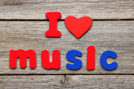 I love music words made of colorful magnets photo