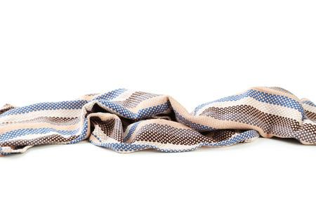 servilleta: Servilleta sobre fondo blanco Foto de archivo
