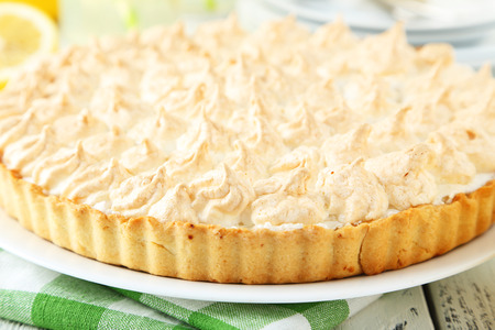 recipe decorated: Lemon meringue pie on plate