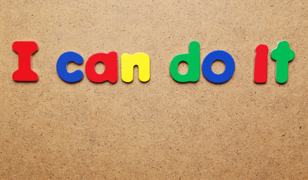 I can do it words made of colorful magnets photo