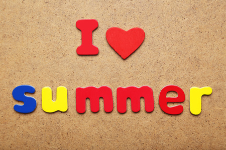 I love summer words made of colorful magnets photo