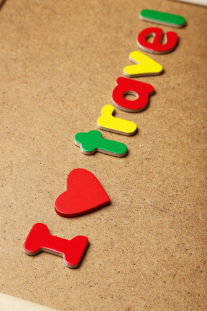 I love travel words made of colorful magnets photo