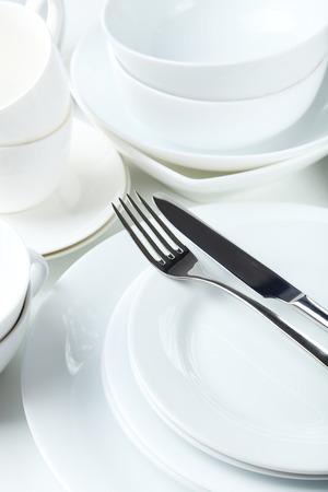Empty white utensil