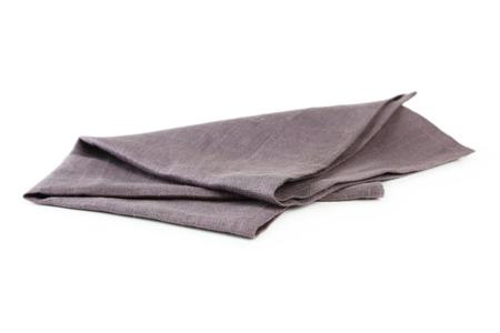 white napkin: Napkin isolated on white Stock Photo