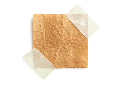 note paper: Piece of note paper on white background Stock Photo