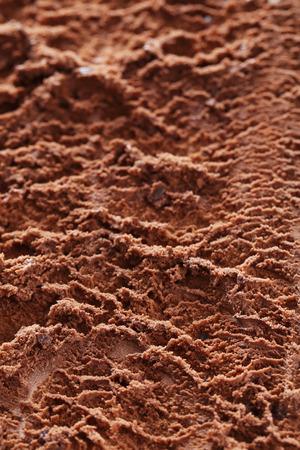 chocolate ice cream: Sweet chocolate ice cream background, close up