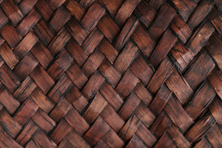 braided: Braided wooden background, close up
