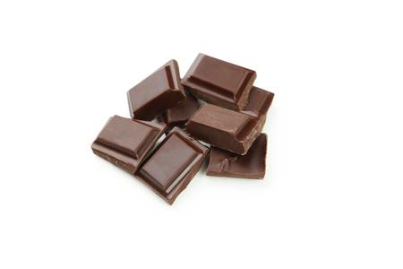 Dark chocolate bar isolated on white