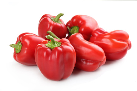 Red peppers isolated on a white