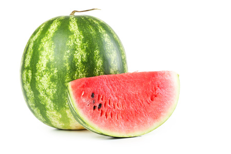Tasty watermelon isolated on a white 스톡 콘텐츠
