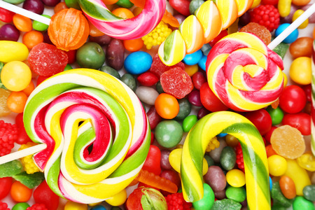 colourful candy: Different fruit candies background