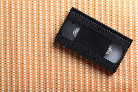 videocassette: Videocassette on the beige background