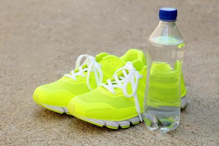 ourdoor: Pair of sport shoes outdoors