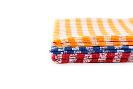 servilletas: Servilletas de colores sobre fondo blanco
