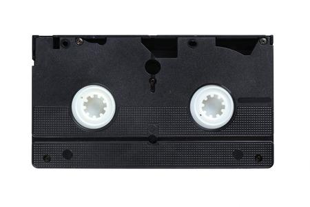 videocassette: Cinta de vídeo aislado en un blanco