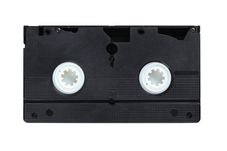 videocassette: Videocassette isolated on a white