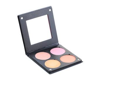 Spiegel Make Up : Make up rouge mit spiegel auf einem weißen lizenzfreie fotos