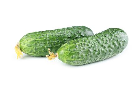cuke: Fresh cucumbers isolated on white