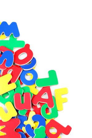 magnetic letters magnetic plastic letters on white background