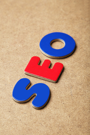 magnets: SEO word made of colorful magnets