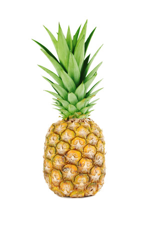 Ripe pineapple isolated on a white