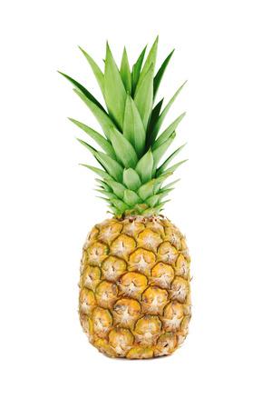 Rijpe ananas die op een witte