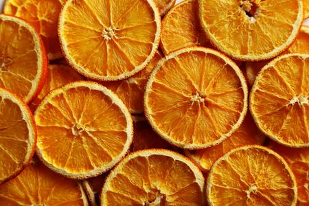 dried orange: Dried orange slices background, close up