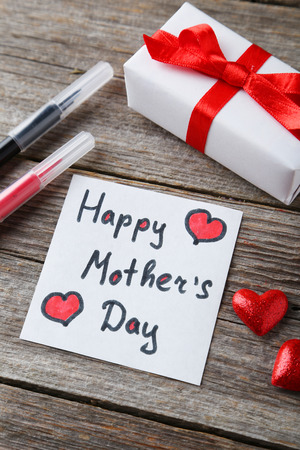 felt tip pen: Happy mothers day card made by a child Stock Photo