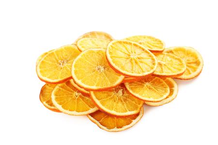 dried orange: Dried orange slices isolated on a white Stock Photo
