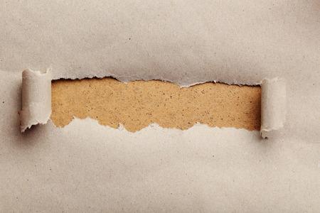 Déchiré papier brun, pour le texte, fermer