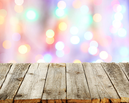 ligneous: Background with wooden table Stock Photo