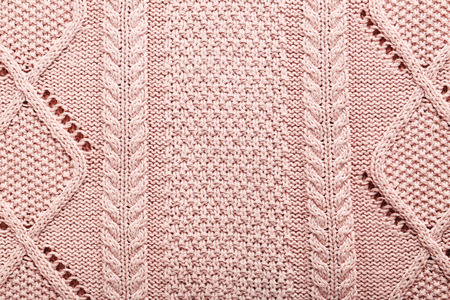 tejido de lana: Knitted woolen fabric background, close up
