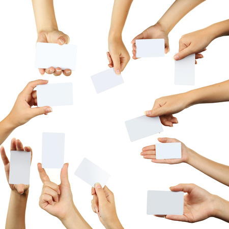 The hand holding a business card collage stock photo picture and stock photo the hand holding a business card collage colourmoves