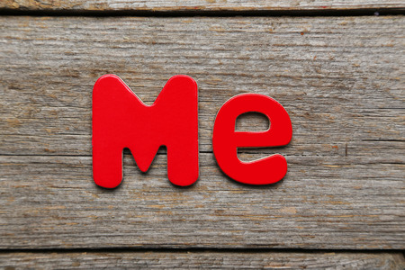 Me word made of colorful magnets Stock Photo
