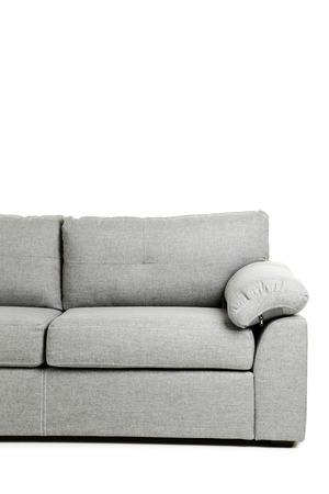 white sofa: Grey sofa isolated on a white background