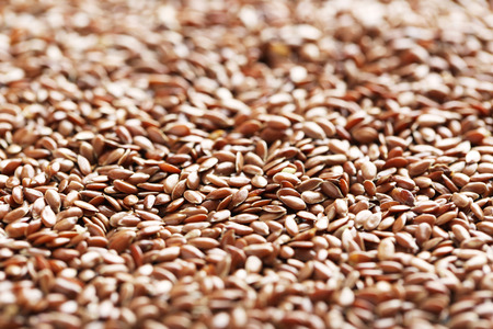 brown flax: Brown flax seeds background Stock Photo