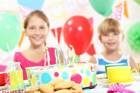 kids birthday party: Happy kids having fun at birthday party