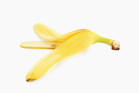 banana skin: Banana skin isolated on a white