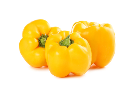 Yellow peppers isolated on a white